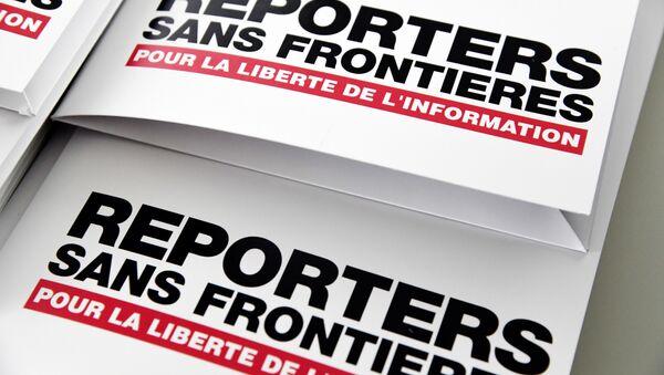 Logo de la ONG Reporteros sin Fronteras - Sputnik Mundo