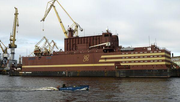 La planta nuclear flotante Akademik Lomonosov - Sputnik Mundo