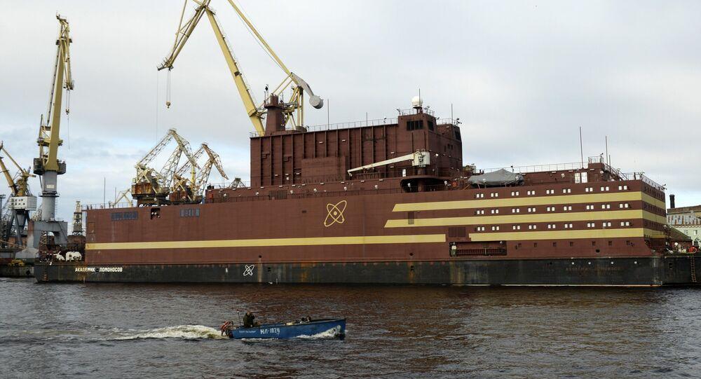 La planta nuclear flotante Akademik Lomonosov