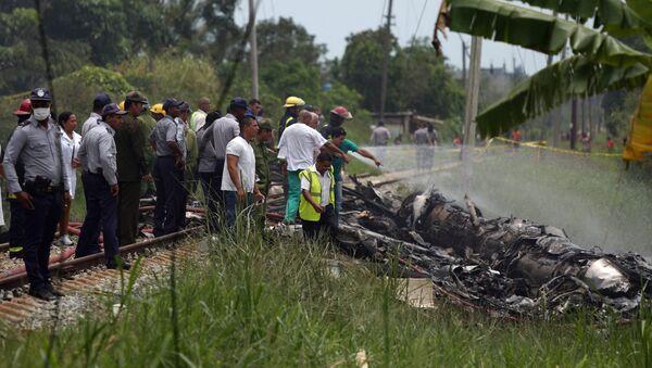 Lugar del siniestro del avión Boeing 737 en La Habana - Sputnik Mundo