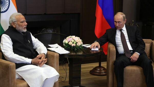 Primer ministro indio, Narendra Modi, y presidente de Rusia, Vladímir Putin (archivo) - Sputnik Mundo