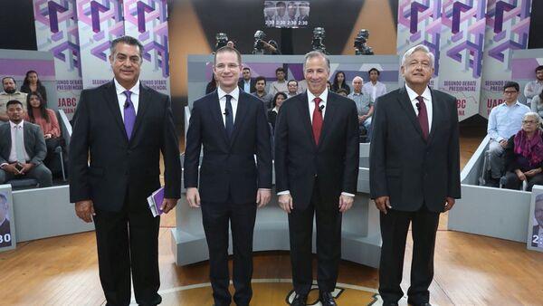 Jaime Rodriguez Calderon, Ricardo Anaya, Jose Antonio Meade y Andres Manuel Lopez Obrador en Tijuana, candidatos presidenciales mexicanos (archivo) - Sputnik Mundo