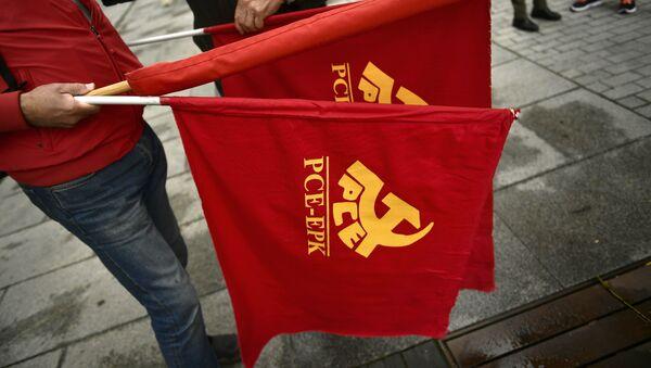 Banderas del Partido Comunista de España - Sputnik Mundo