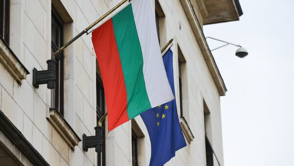 Banderas de Bulgaria y la UE - Sputnik Mundo