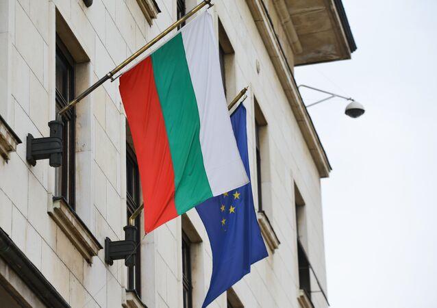 Banderas de Bulgaria y la UE