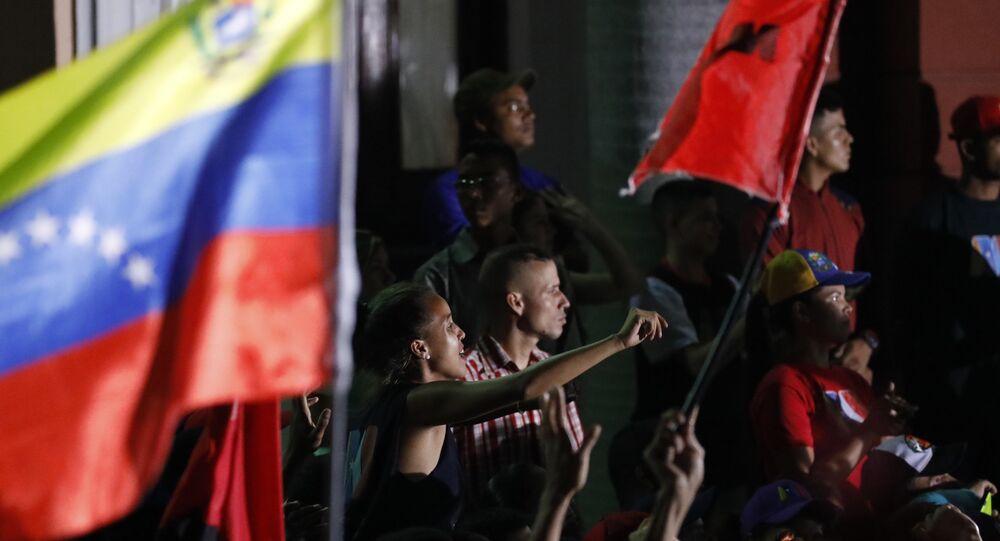 Seguidores de Nicolás Maduro en Caracas, Venezuela