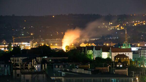 Explosión de una bomba de la II Guerra Mundial en Dresde (Alemania), el 23 de mayo de 2018 - Sputnik Mundo