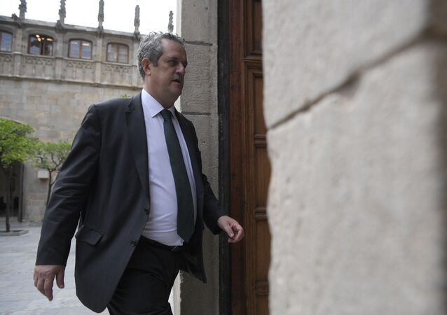 El ministro del Interior del Gobierno catalán, Joaquim Forn, archivo