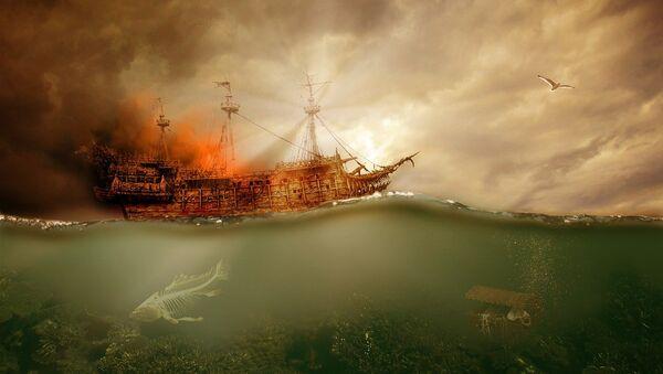 Un buque naufragando, referencial - Sputnik Mundo