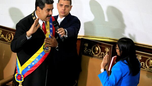 Ceremonia de juramento de Nicolás Maduro ante la Asamblea Nacional Constituyente - Sputnik Mundo