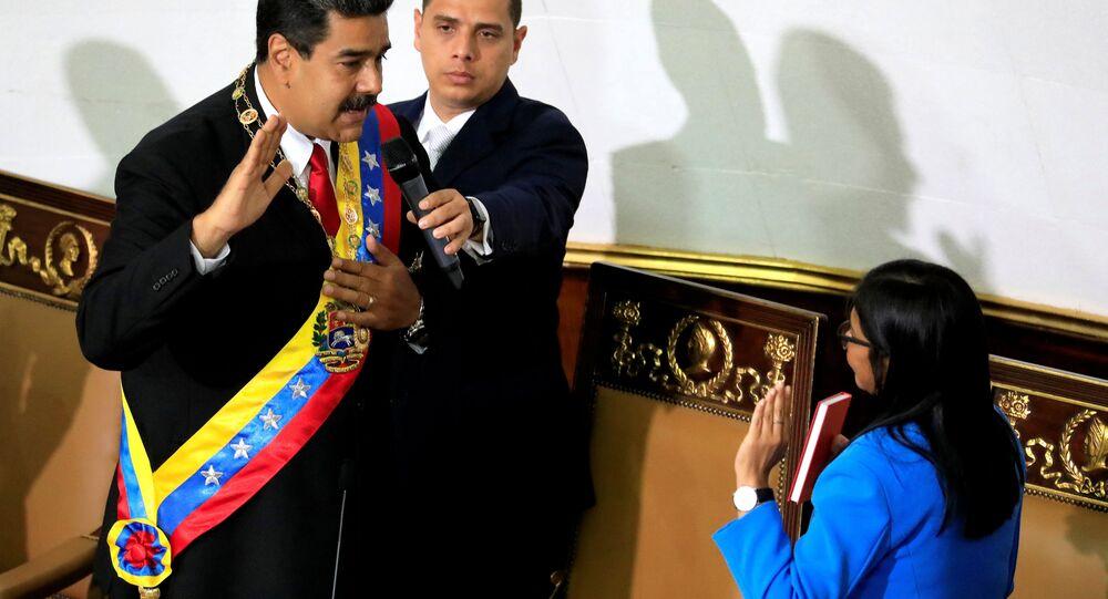 Ceremonia de juramento de Nicolás Maduro ante la Asamblea Nacional Constituyente