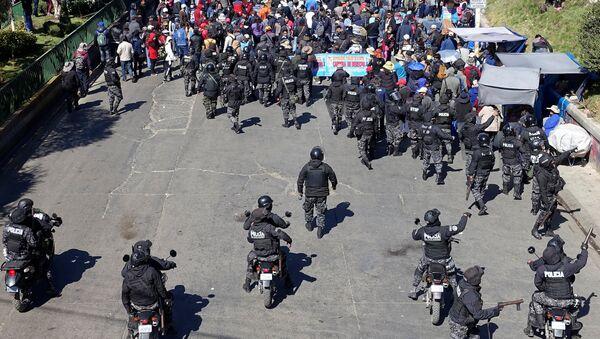 Manifestación en la ciudad de El Alto, Bolivia - Sputnik Mundo