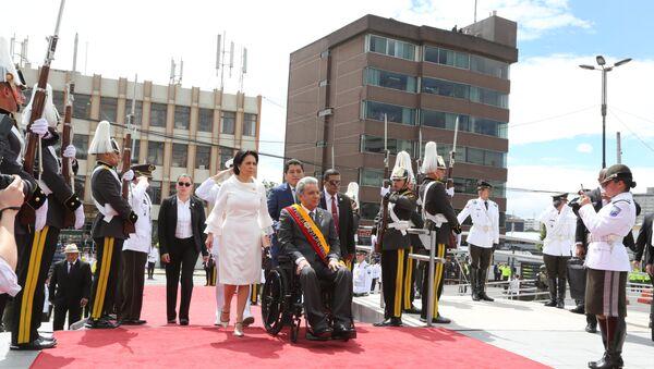 Presidente de Ecuador, Lenín Moreno, a su arribo al palacio legislativo para rendir cuentas de su primer año de gestión - Sputnik Mundo