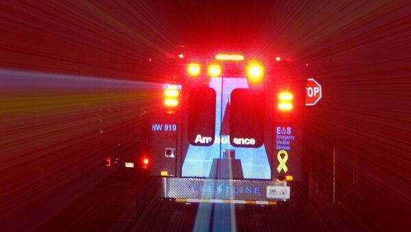 Una ambulancia canadiense - Sputnik Mundo