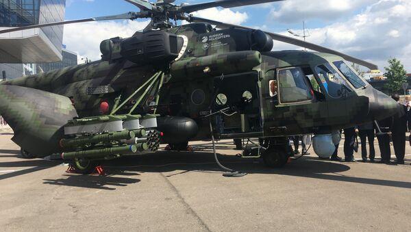 El helicóptero Mi-171Sh (archivo) - Sputnik Mundo