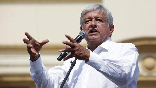 Leftist front-runner Andres Manuel Lopez Obrador of the National Regeneration Movement (MORENA) - Sputnik Mundo