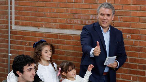 Iván Duque, elegido presidente de Colombia - Sputnik Mundo