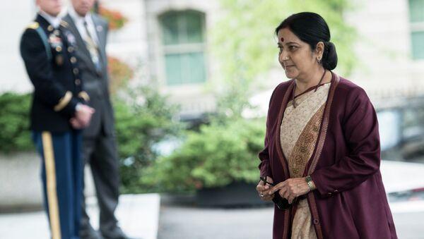 Sushma Swaraj, la canciller de la India (archivo) - Sputnik Mundo