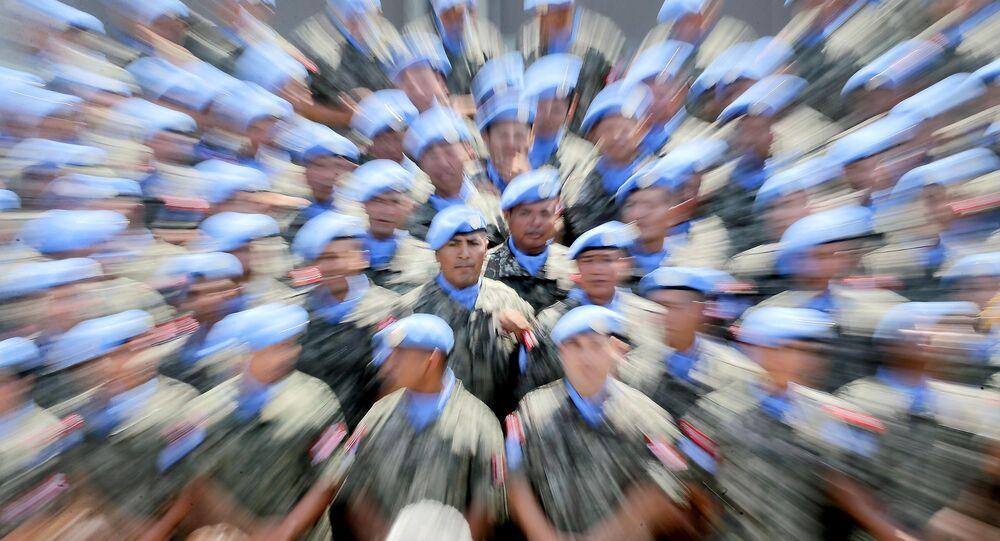 Un contingente de cascos azules (Archivo)