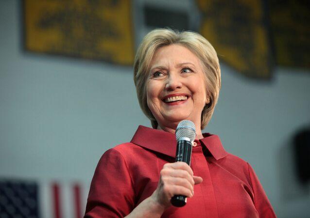 Hillary Clinton en una conferencia