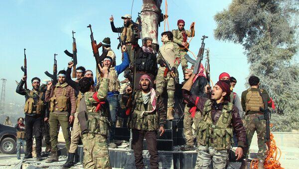 Combatientes del Ejército Libre Sirio en Afrín, Siria (archivo) - Sputnik Mundo
