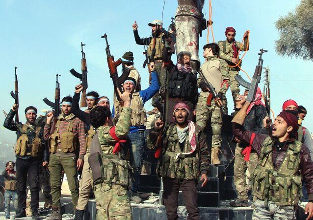 Combatientes del Ejército Libre Sirio en Afrín, Siria (archivo)