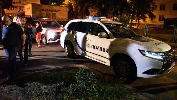 Policía ucraniana cerca del lugar del asesinato del periodista ruso Arkadi Bábchenko - Sputnik Mundo