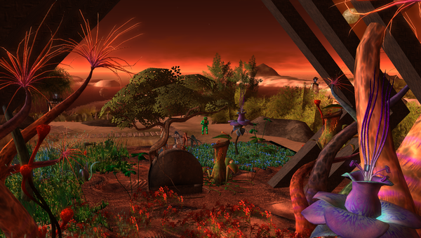 Una colonia marciana, imagen ilustrativa - Sputnik Mundo
