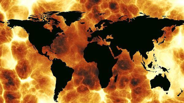 Mapa del mundo en el fuego - Sputnik Mundo