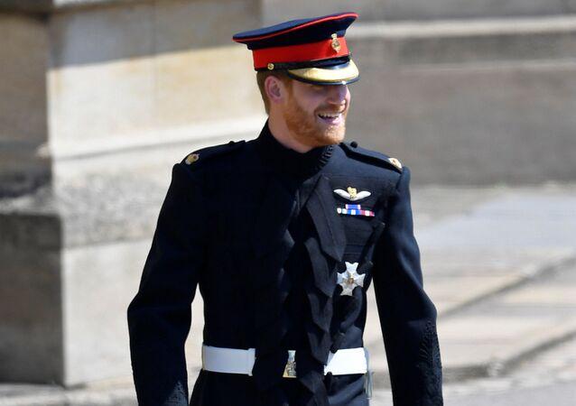 El príncipe Harry, el día de su boda con Meghan Markle