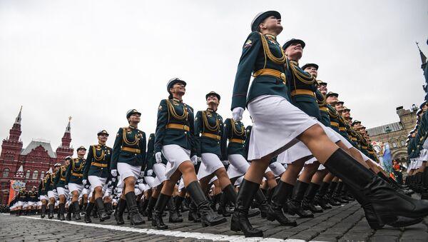 Ensayo general del Desfile de la Victoria en la Plaza Roja de Moscú. - Sputnik Mundo