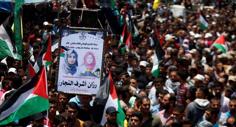El funeral de la voluntaria médica, matada en Gaza