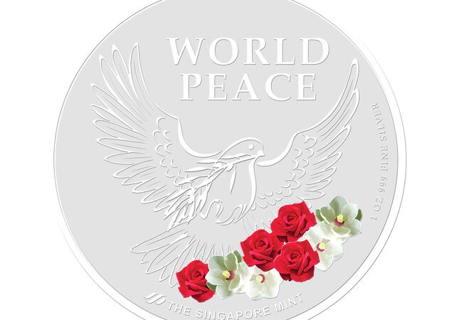 El reverso de los medallones para conmemorar la cumbre entre Donald Trump y Kim Jong-Un