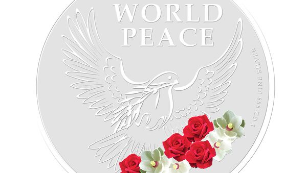 El reverso de los medallones para conmemorar la cumbre entre Donald Trump y Kim Jong-Un - Sputnik Mundo