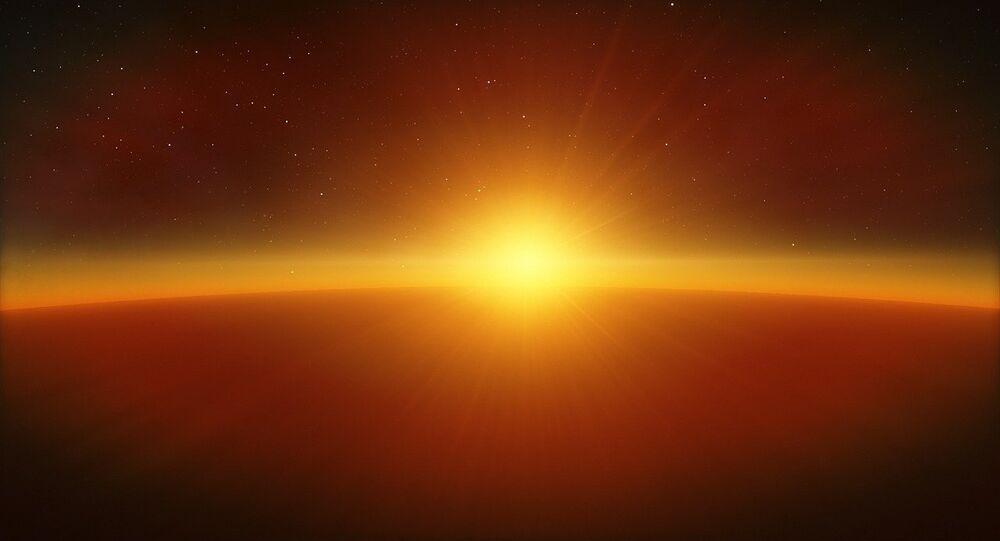 Un exoplaneta junto con una estrella (imagen referencial)