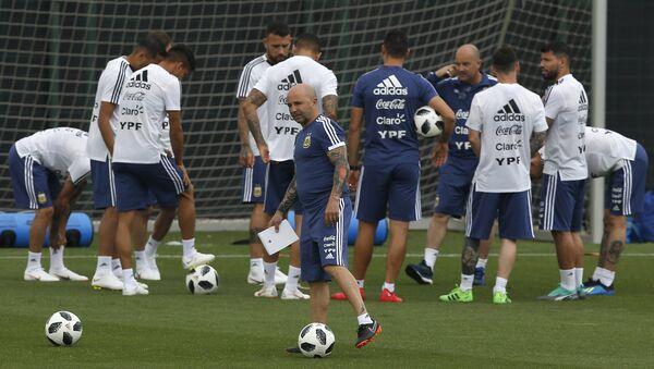 Entrenamiento de la selección argentina de fútbol - Sputnik Mundo
