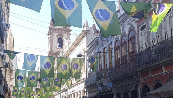 Una calle en Río de Janeiro, Brasil - Sputnik Mundo