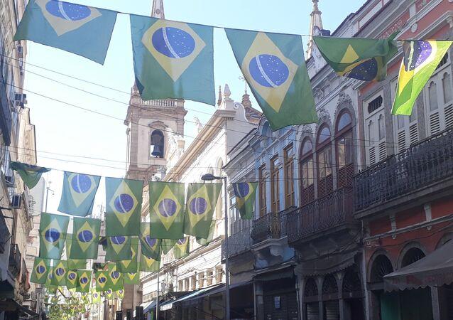 Una calle en Río de Janeiro, Brasil