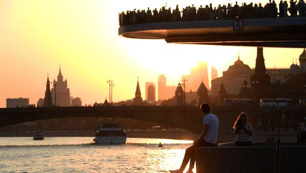 Парящий мост парка Зарядье в Москве - Sputnik Mundo