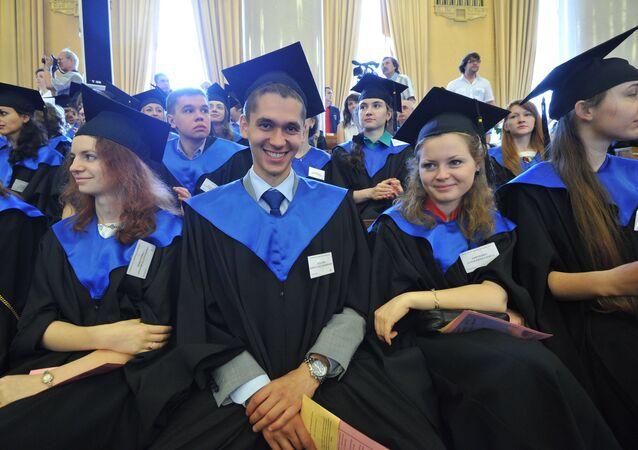 Estudiantes en Rusia (archivo)