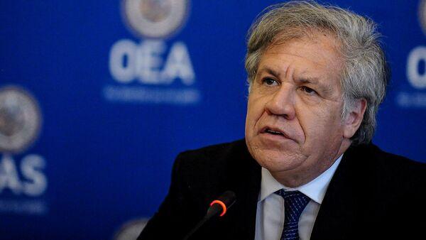 El secretario general de la OEA, Luis Almagro, participa en una conferencia de prensa en Washington - Sputnik Mundo