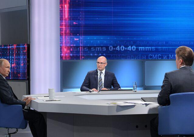 La 16 'Línea directa' con Vladímir Putin