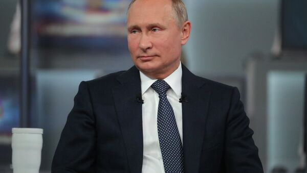 La 16 'Línea directa' con Vladímir Putin - Sputnik Mundo