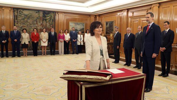 Carmen Calvo, la nueva vicepresidenta española - Sputnik Mundo