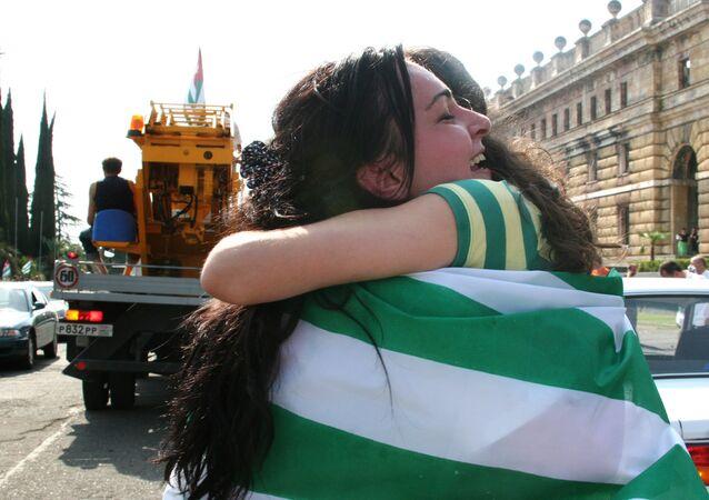 Celebración de la independencia de Abjasia (archivo)