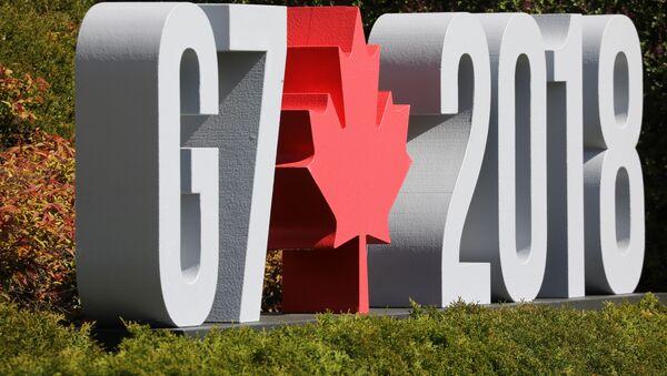 Logo de la reunión del G7 en Canadá - Sputnik Mundo