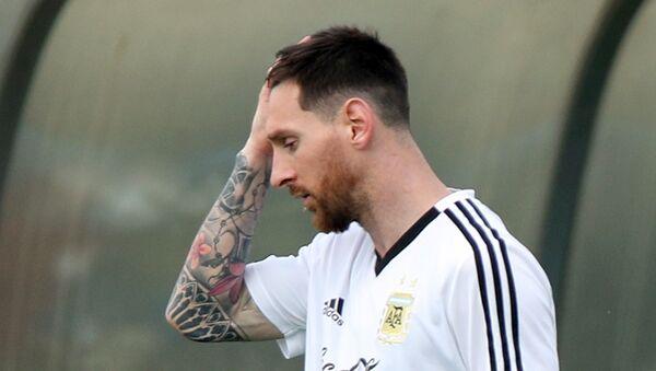 Lionel Messi, jugador de la selección argentina de fútbol (archivo) - Sputnik Mundo