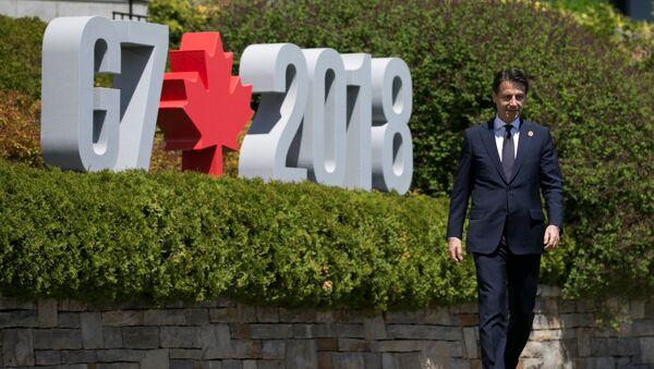 Giuseppe Conte, el nuevo primer ministro de Italia, en Canadá - Sputnik Mundo