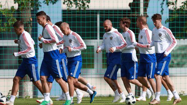 Entrenamiento de la selección de Rusia de fútbol - Sputnik Mundo