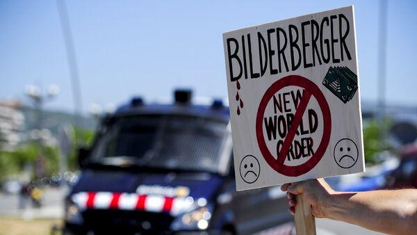 Protestas contra el Club Bilderberg - Sputnik Mundo